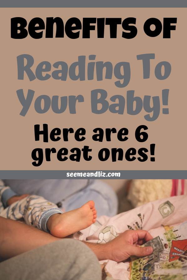 parent reading to baby with text overlay