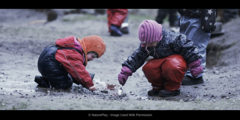 nature play documentary children playing and learning in the mud