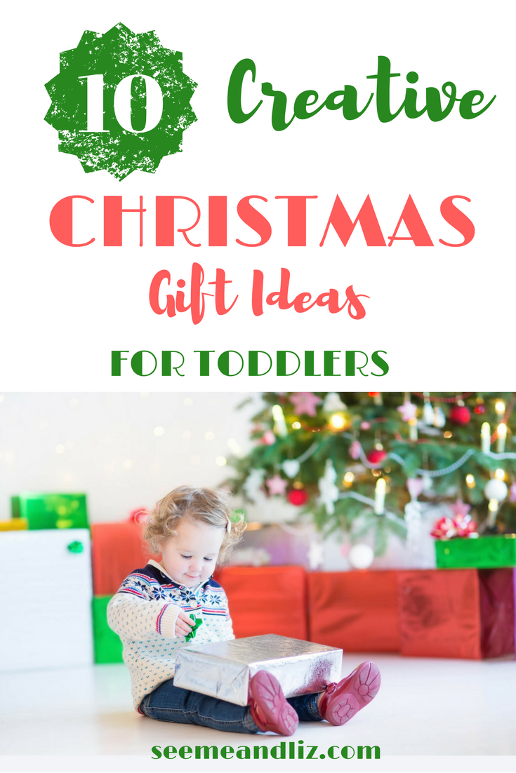 Fun Christmas gift ideas for toddlers. Click to learn how these toys will help speech-language development, pretend play, problem solving, etc.