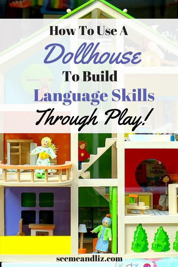 dollhouse with text overlay