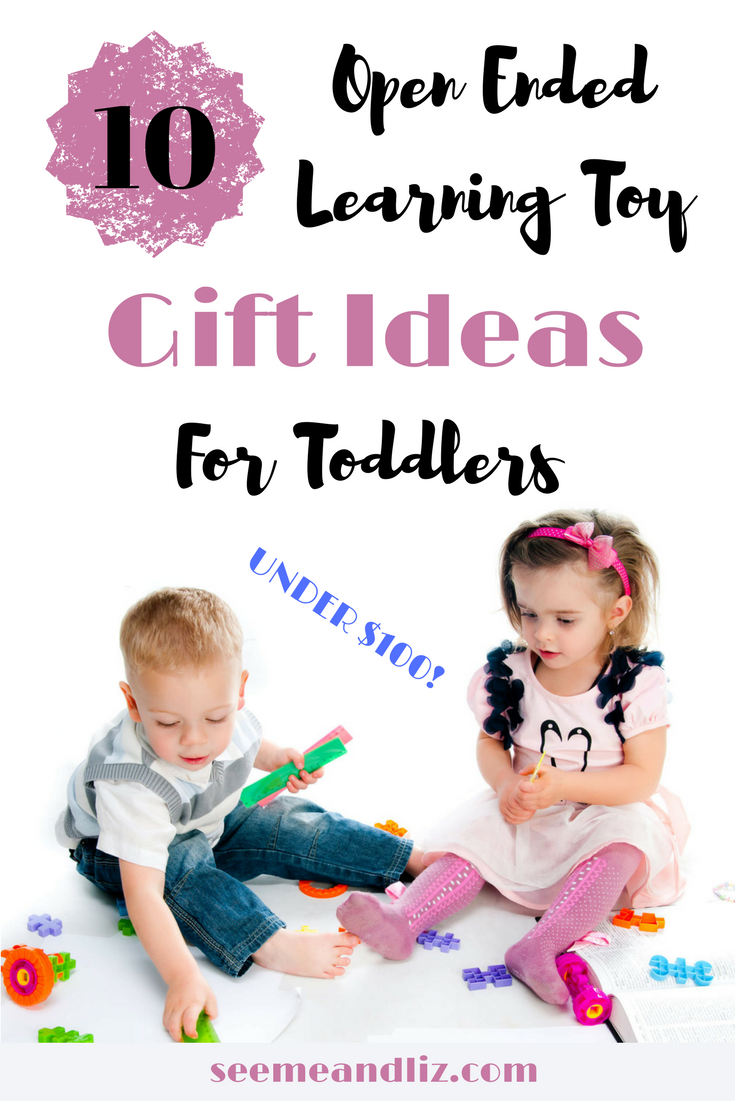 Gift ideas for 2 year old girls and boys. Click to find out how these toys will help with toddler learning and development