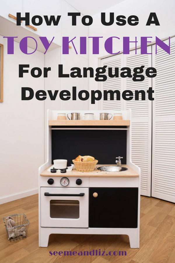 kids play kitchen with text overlay - Kitchen For Kids