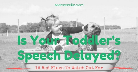 speech delay in toddlers featured image girl with dog