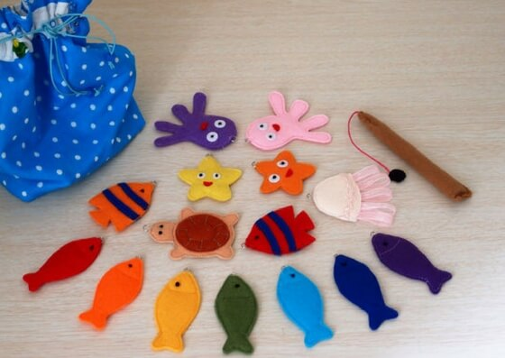 incredible christmas gift ideas for kids felt magnetic fishing set