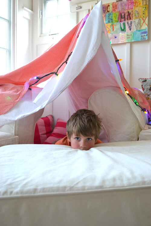 indoor play forts for kids light up sheet fort