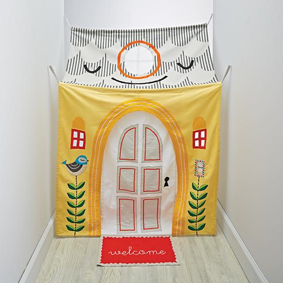 7 DIY Play Forts Kids Will Love - hanging-around-hallway-playhouse