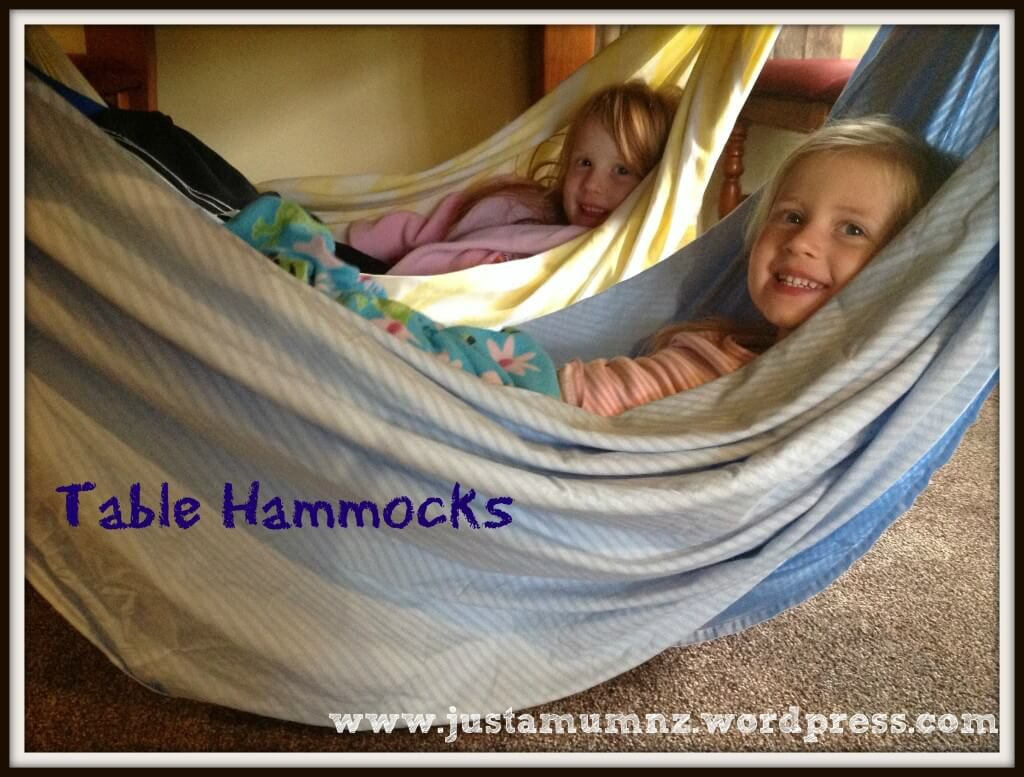 under the table hammock fort indoor play forts for kids