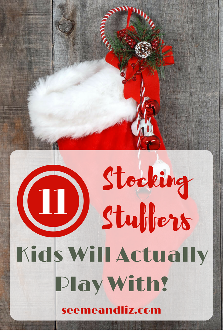 Stocking stuffer ideas for kids! 11 simple toys your child will actually play with.