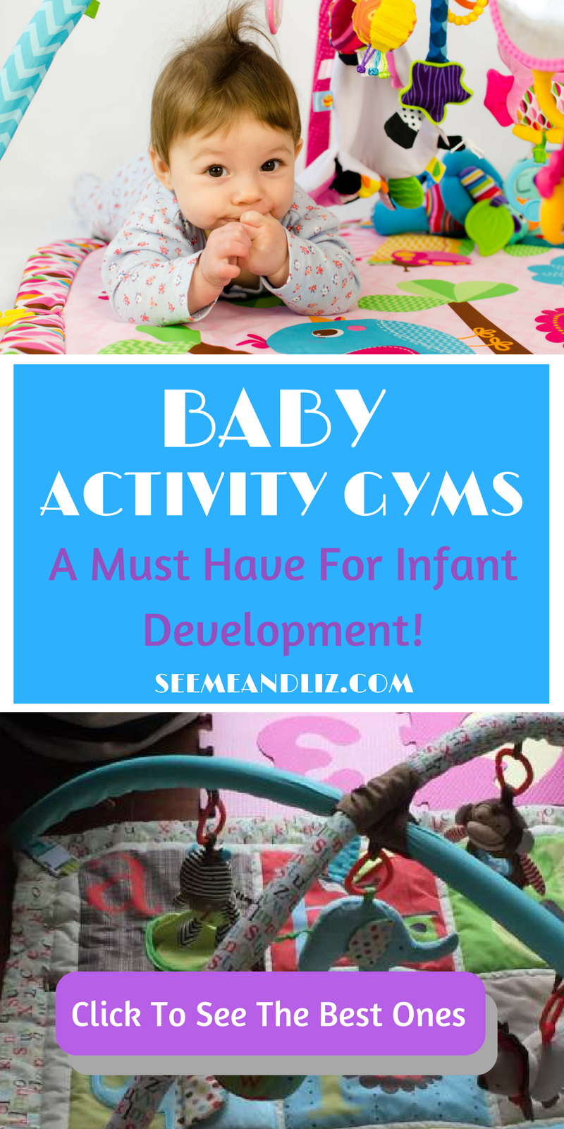 A baby activity gym is a must have for infant development. Click to learn how, plus which ones are best! | #babygym | #infantdevelopment