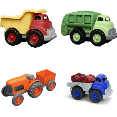 Outdoor play toys for toddlers - green toys vehicles