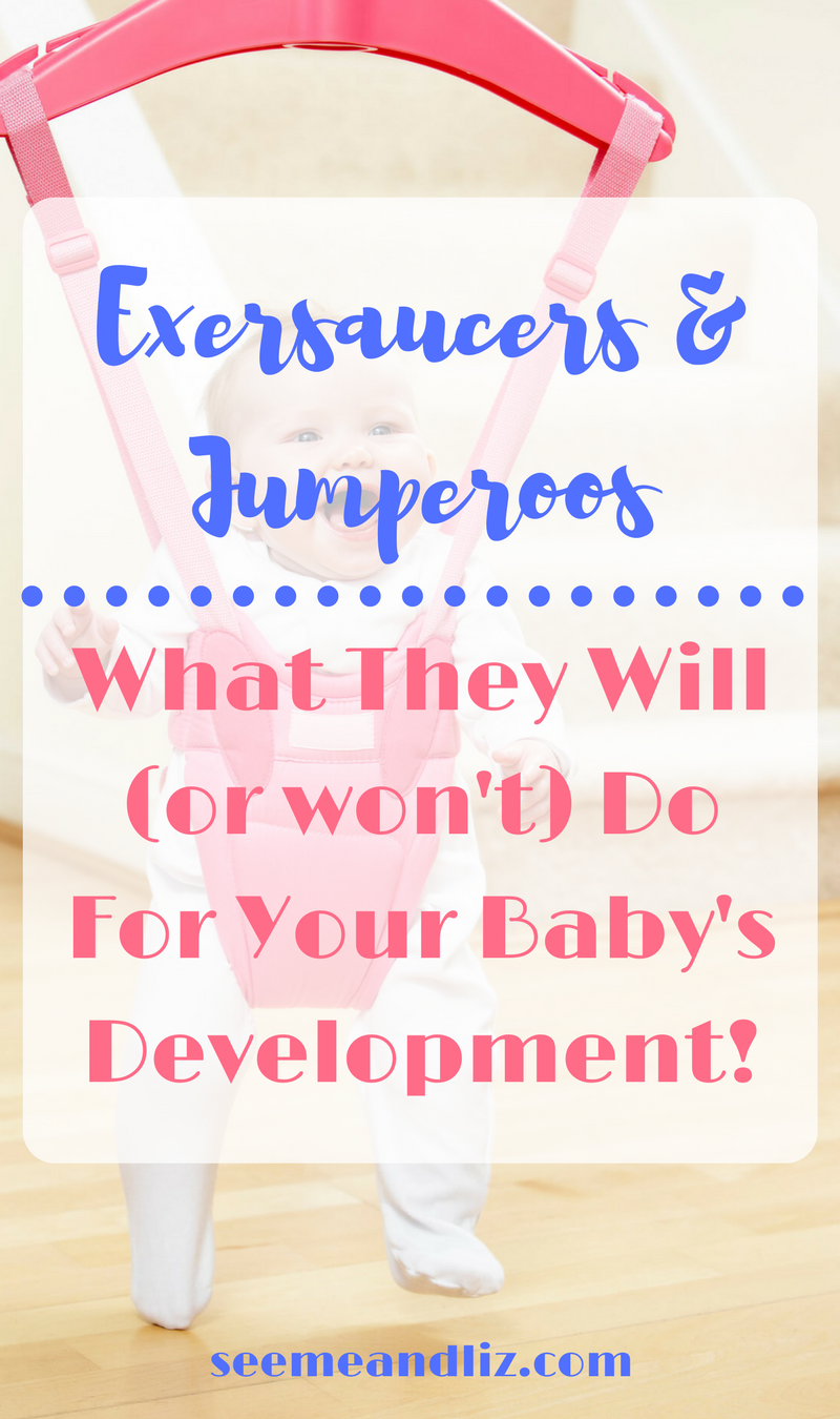 Exersaucer, Jumperoo or an alternative? Are either good/bad for baby's development? All your baby activity center questions answered here!