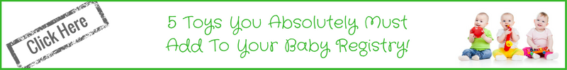must have baby registry toys for language development banner
