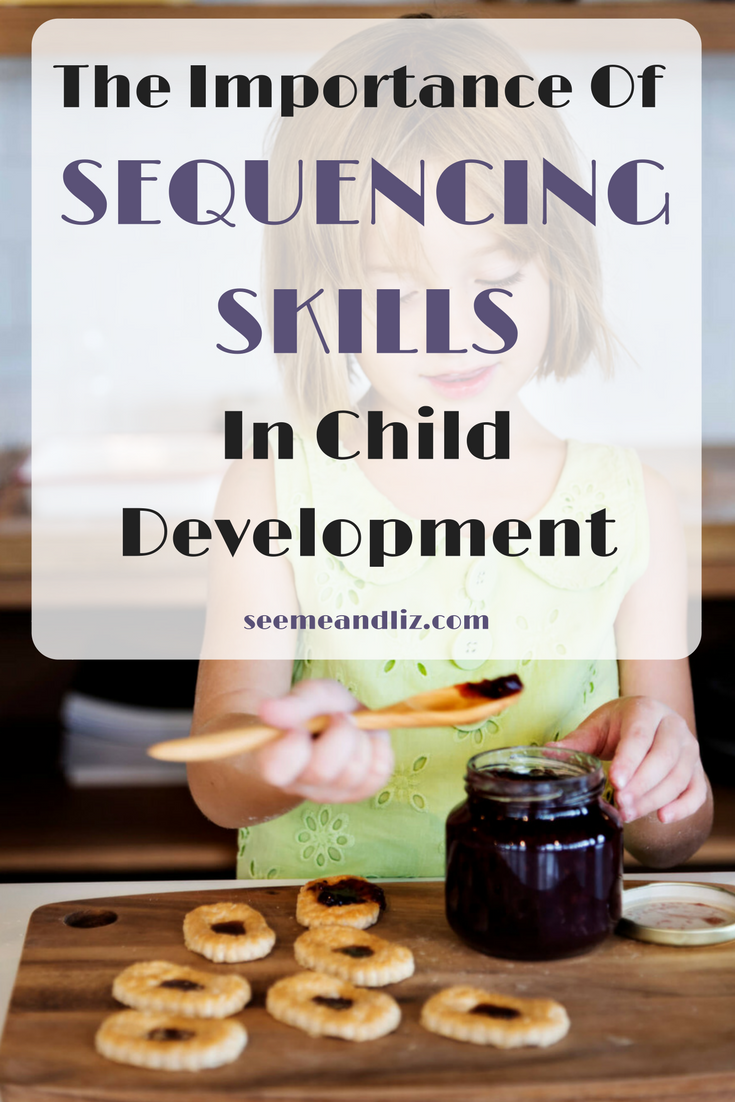 Sequencing activities for preschoolers are precursors for future skills, from learning to read to executive functions! Click to learn how to facilitate this important skill! #speechtherapy #kidslearning #parentingtips