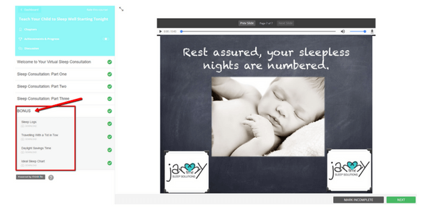 Sleep Training For Babies Bonus Section