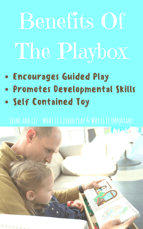 Using a playbox will help parents with guided play activities for their young child