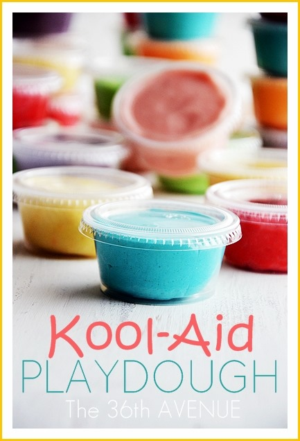 Super simple kool aid playdough recipe that can be eaten and doesn't require baking.