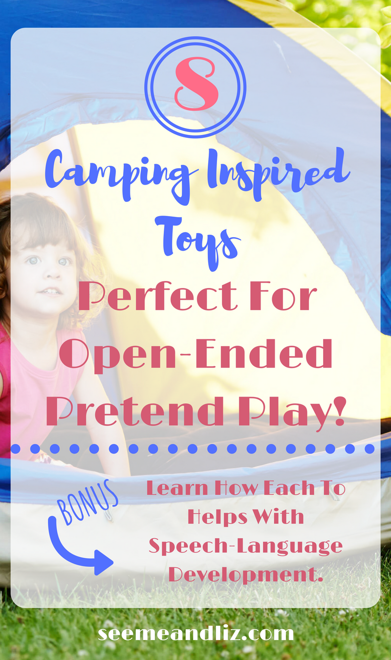 Pretend camping toys for kids - great open ended & pretend play activities for preschoolers