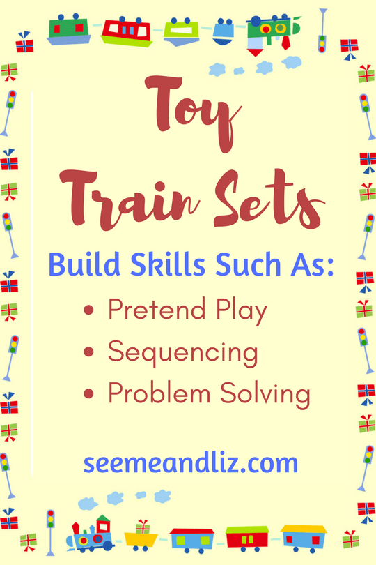 Train sets for children equal skill building through open ended play
