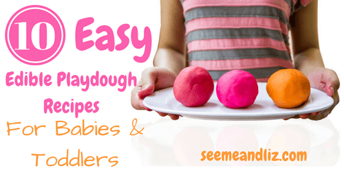 10 Easy Edible Playdough Recipes For Babies & Toddlers