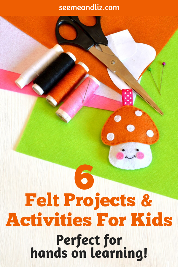 felt projects for kids with text overlay