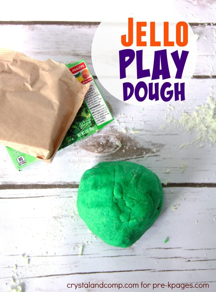 Jello Playdough is easy to make and safe to eat. You only need 5 ingredients!