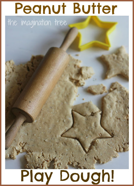 This super easy edible peanut butter playdough uses ingredients you probably already have at home.
