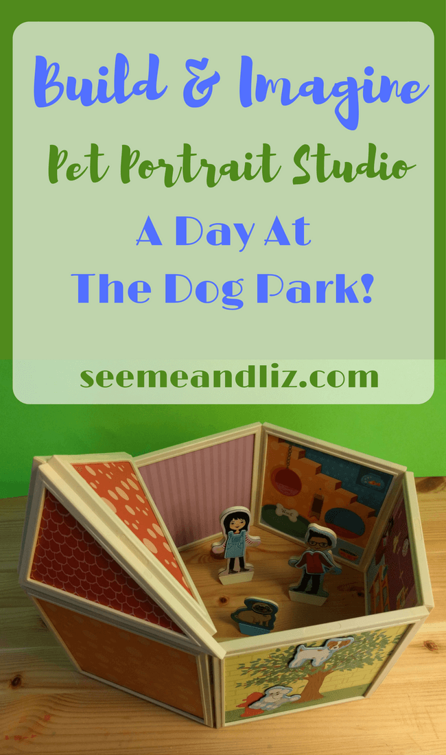 Build & Imagine Magnetic Dollhouse Pet Portrait Studio - great for storytelling activities for kids