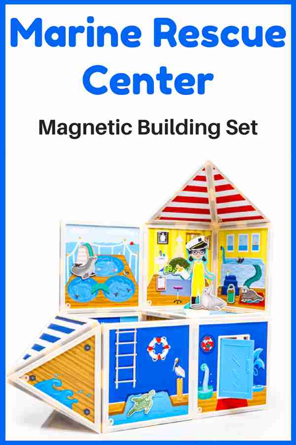 Marine Rescue Center - Build and Imagine Magnetic Building Set