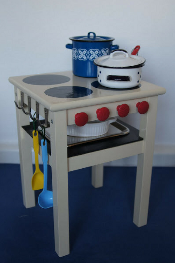 DIY Ikea Stool Play Kitchen For Kids