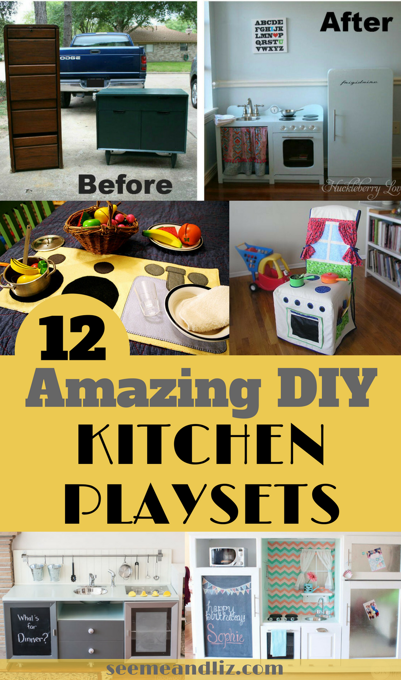 DIY kitchen playsets with text overlay
