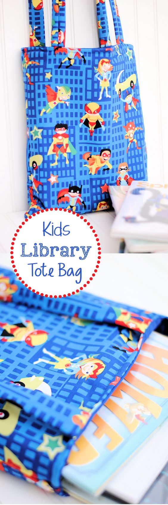 DIY Kids Library Tote Bag