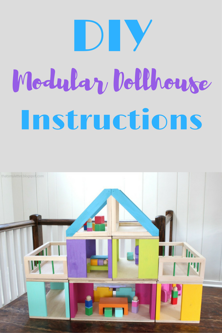 DIY Modular Dollhouse Instructions