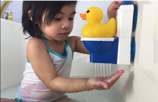 Potty duck for play based toddler potty training