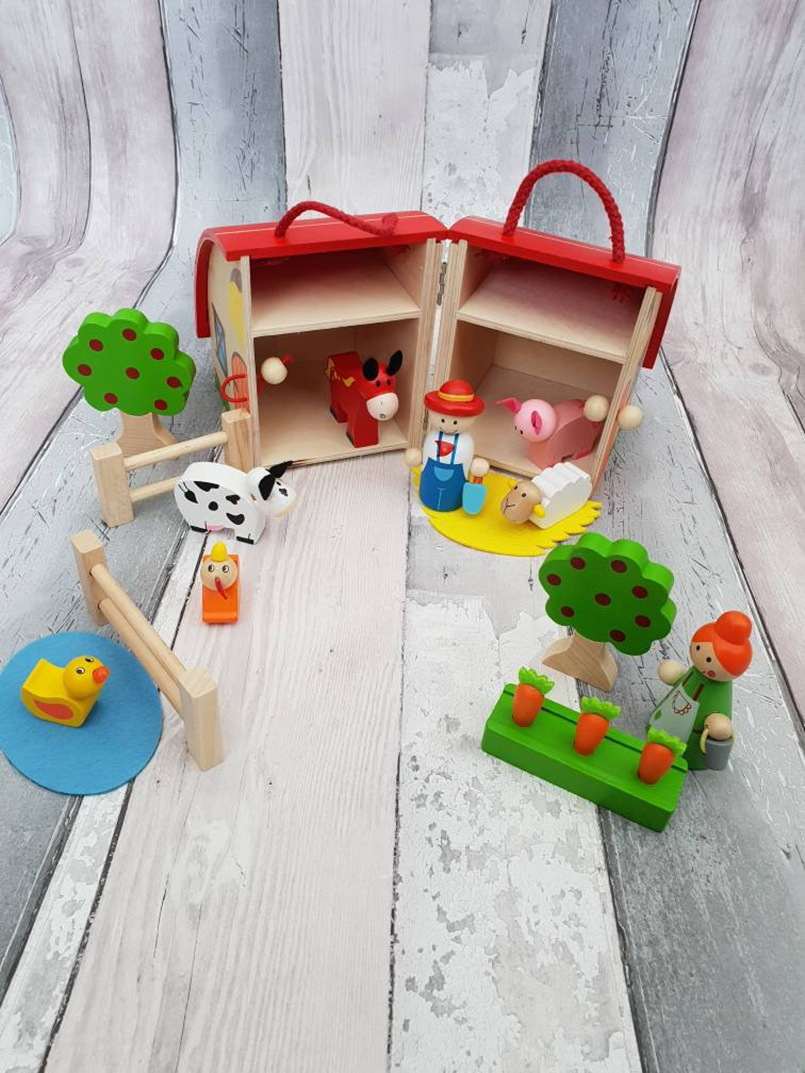 Wooden farm set toy personalized ETSY