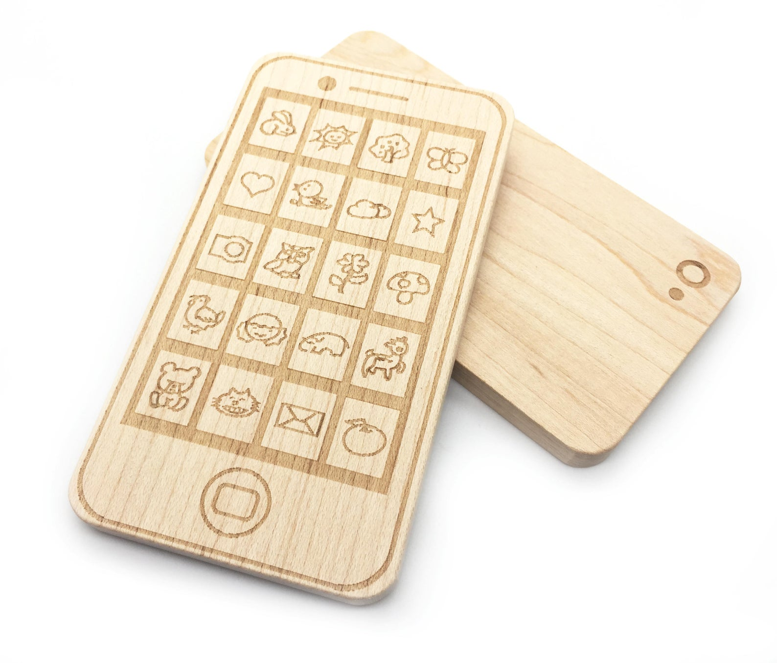 Wooden teething phone for babies ETSY
