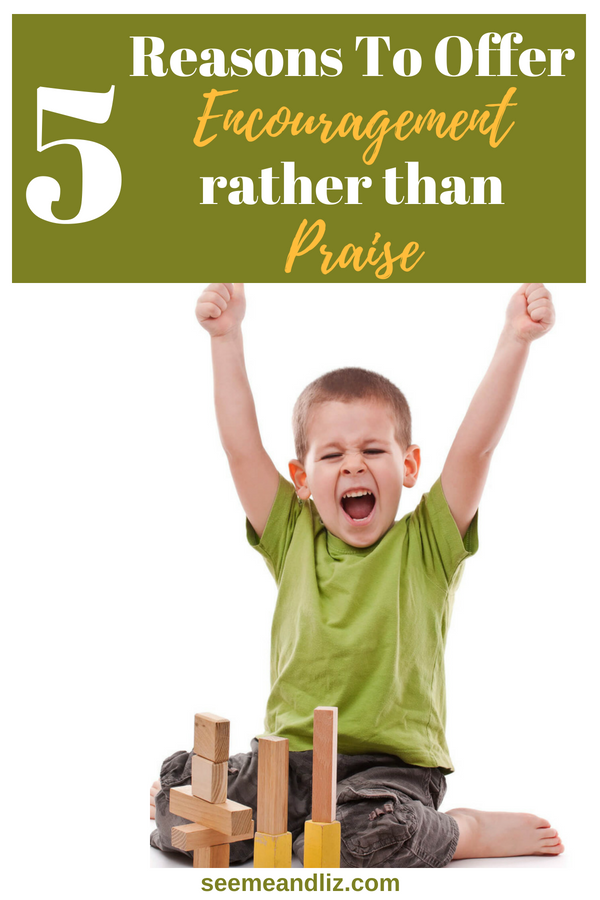child cheering with text overlay