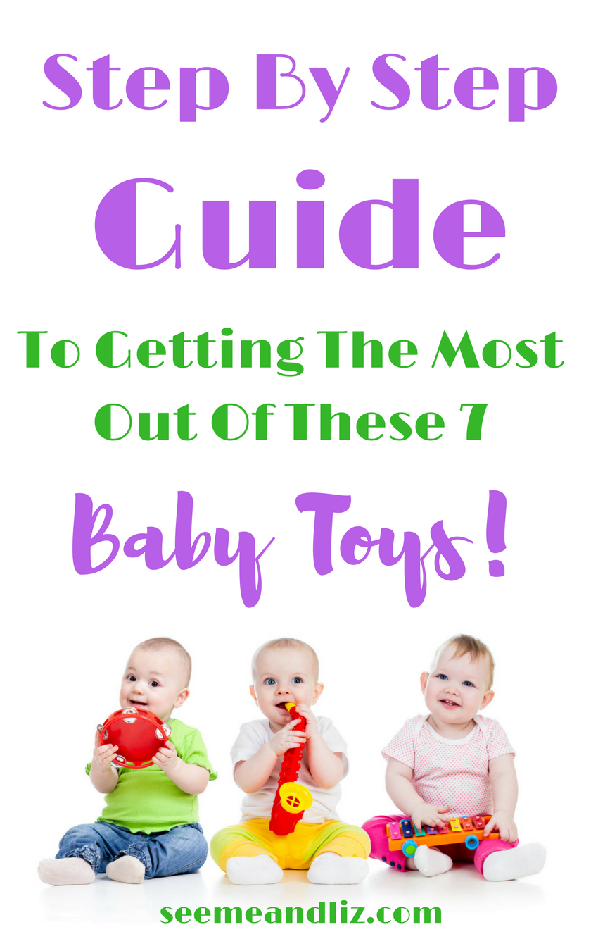 Babies holding toys with text overlay